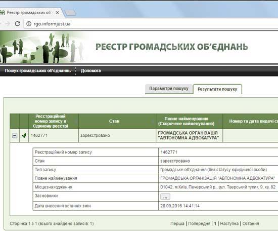 Автономна Адвокатура в РГО
